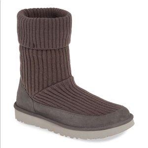 Women's Ugg Qori Rib Knit Boot, Size 9 M - Grey💕